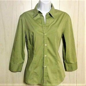 New York And Company City Stretch 3/4 Sleeve Shirt
